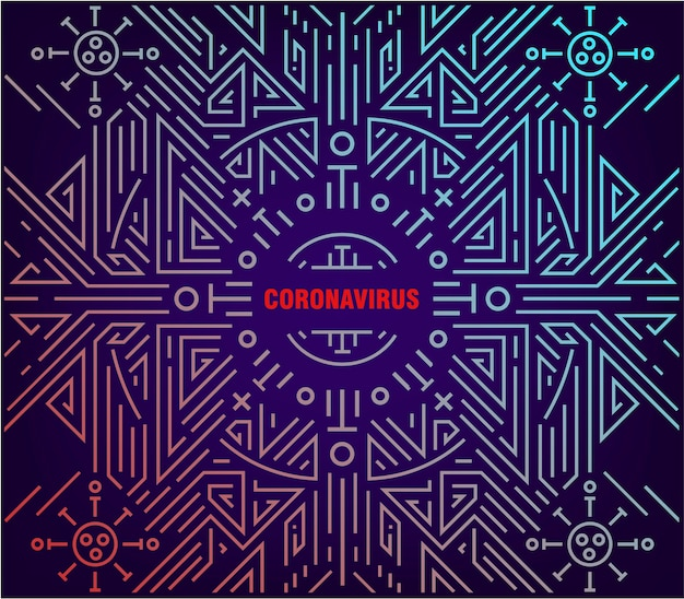 Abstrakte lineare darstellung des coronavirus