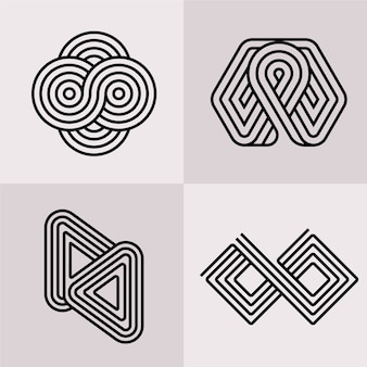 Abstrakte lineare logo-sammlung