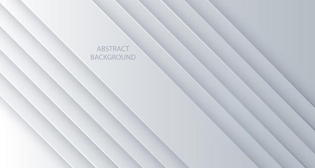 Abstrakte linien des weißen hintergrunds. entwerfen sie geometrische weiße textur. abstrakter 3d hintergrund mit weißen papierschichten