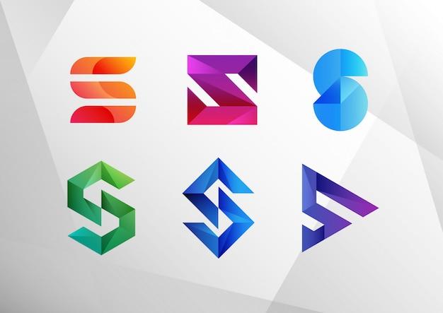Abstrakte logo-sammlung mit farbverlauf s.