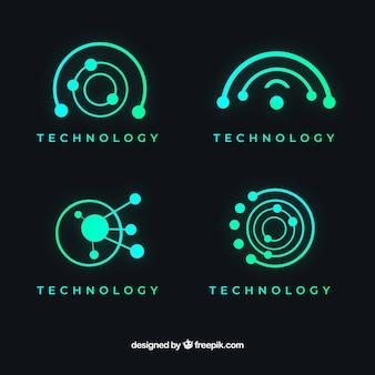 Abstrakte logo-sammlung mit farbverlauf