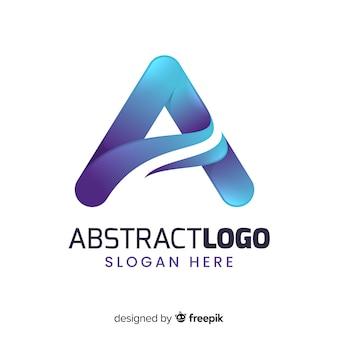 Abstrakte logo vorlage farbverlauf