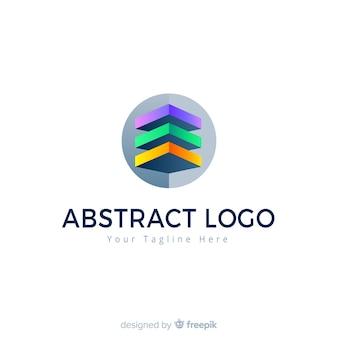 Abstrakte logo vorlage farbverlaufsart
