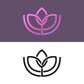 Abstrakte logo-vorlage in sammlung von zwei versionen