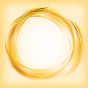 Abstrakte logoauslegung im gelb