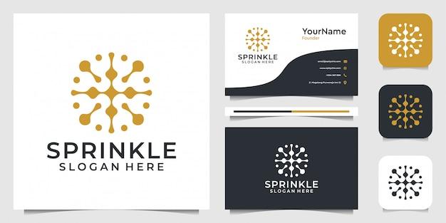 Abstrakte logoillustrationsgrafik im modernen stil. gut für internet, technologie, marke, werbung und visitenkarte