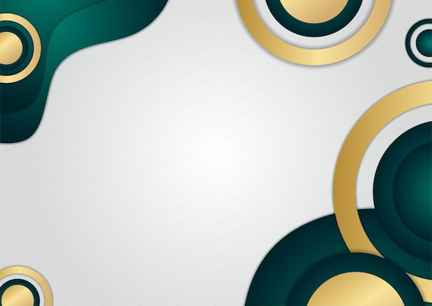 Abstrakte luxuriöse dunkelgrüne überlappungsschicht mit goldener linie. luxus und eleganter hintergrund. abstraktes vorlagendesign. design für präsentation, banner, cover, visitenkarte