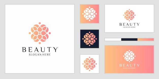 Abstrakte luxusblumen, die schönheit, yoga und spa inspirieren