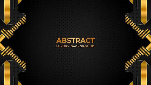 Abstrakte luxushintergrundschablone mit geometrischen formen