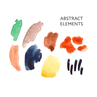 Abstrakte malerei, moderne pastellaquarellfarbe
