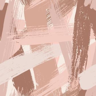 Abstrakte malerei nahtlose muster vektorgrafik vektor pinsel hintergrund