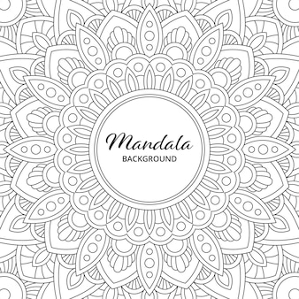 Abstrakte mandala arabesque malvorlagen buchillustration. t-shirt. blumentapetenhintergrund