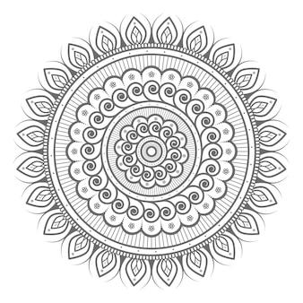 Abstrakte mandalaillustration des runden kreises für dekoratives konzept