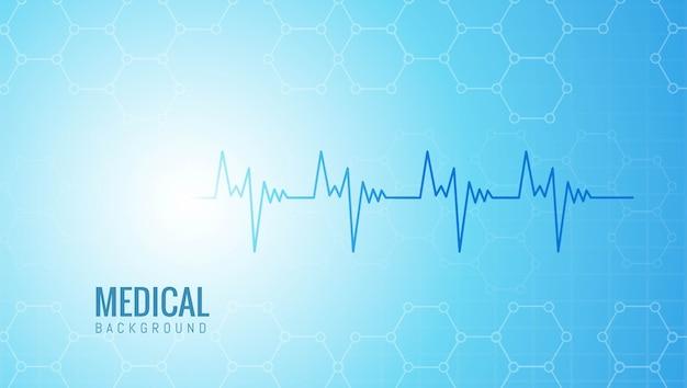 Abstrakte medizin und gesundheitswesen mit lebensader