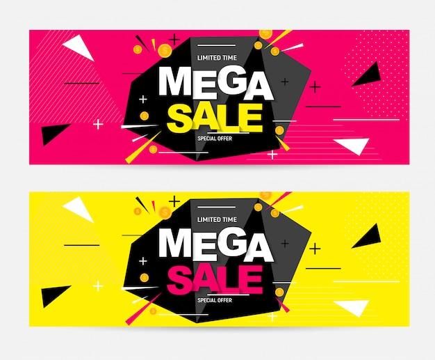 Abstrakte mega sale banner
