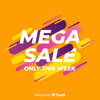 Abstrakte mega sale promotion banner