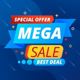 Abstrakte mega sale promotion banner