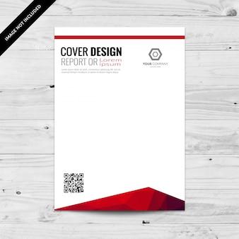 Abstrakte mehrfarbige cover-design-vorlage mit qr-code