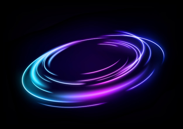 Abstrakte mehrfarbige windlinie des lichts