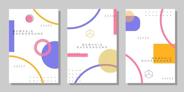 Abstrakte memphis cover-stil
