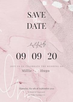 Abstrakte memphis save the date einladungskarte