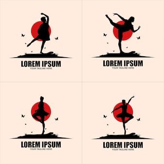 Abstrakte menschen-logo-design. fitnessstudio, fitness, lauftrainer vektor buntes logo. aktives fitness-, sport-, tanz-web-symbol und -symbol