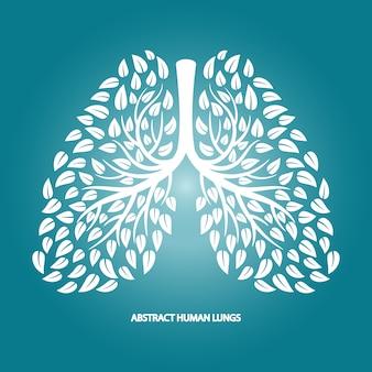 Abstrakte menschliche lunge aus laub