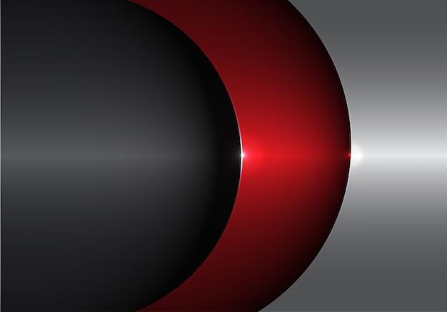 Abstrakte metall rote graue form kurve überlappung.