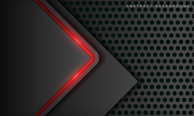 Abstrakte metallisch schwarze rahmenlayout-designvorlage für moderne technologie mit neoneffekt