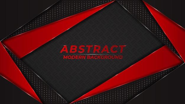 Abstrakte metallische rote und schwarze moderne futuristische technologie überlappen sich