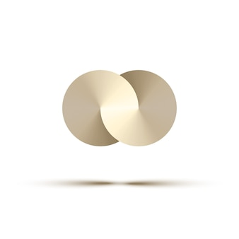Abstrakte metallkreise, logo-gestaltungselement.