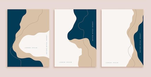 Abstrakte minimalästhetische moderne zeitgenössische plakate