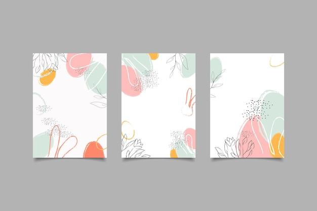 Abstrakte minimalistische cover-kollektion