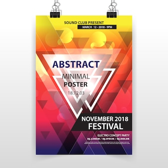 Abstrakte minimalistische geometrische poster