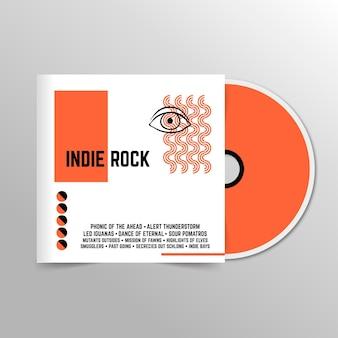 Abstrakte minimalistische indie-general-cd-abdeckung
