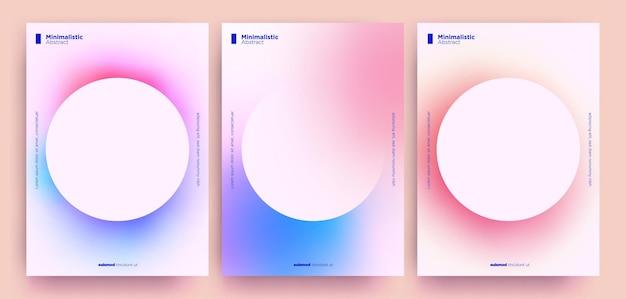 Abstrakte minimalistische kollektion mit trendigen farbverläufen.