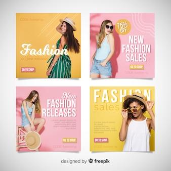 Abstrakte mode verkauf instagram beitragssammlung