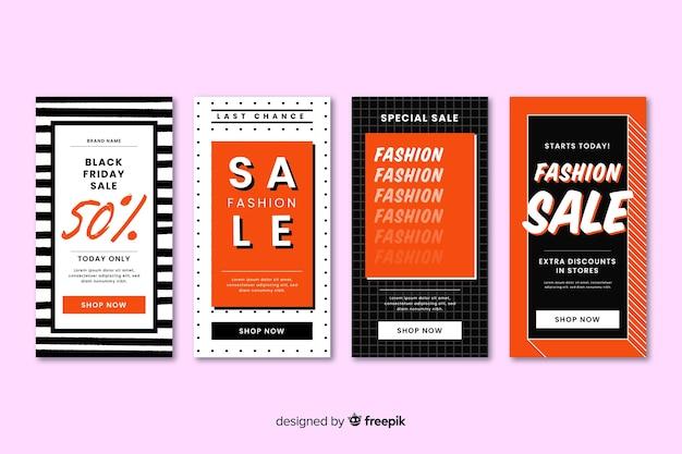 Abstrakte mode verkauf instagram geschichten