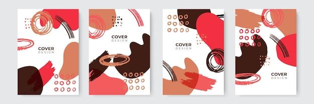 Abstrakte moderne bunte cover-vorlagen