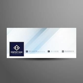 Abstrakte moderne facebook-timeline-cover-vorlage Premium Vektoren