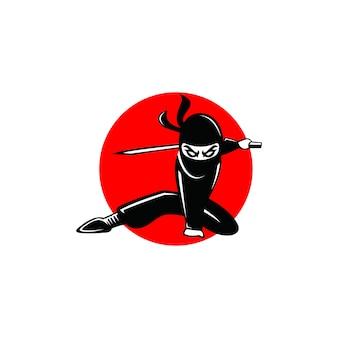 Abstrakte moderne form des ninja-logos