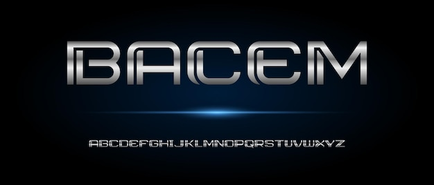 Abstrakte moderne futuristische alphabetschrift. typografie urban style schriften für technologie, digital, film, logo design