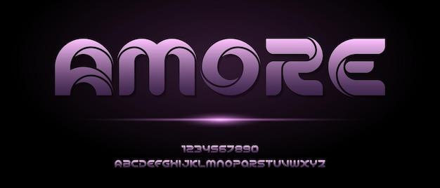 Abstrakte moderne futuristische alphabetschrift.