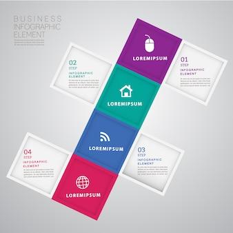 Abstrakte moderne infographics schablone 3d.