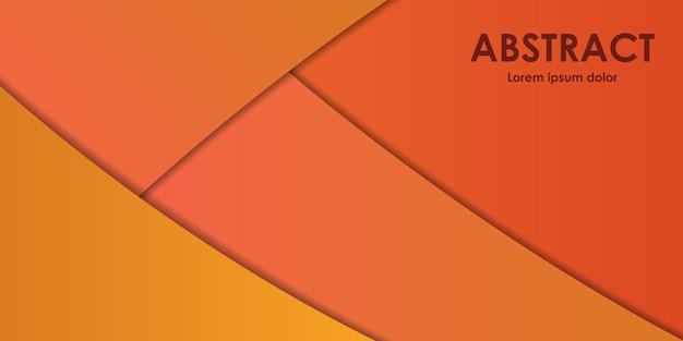 Abstrakte moderne linien mit schatten auf orange und gelbem farbverlaufshintergrund