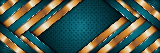 Abstrakte moderne luxusblau strukturiert mit überlappungsschichten hintergrund
