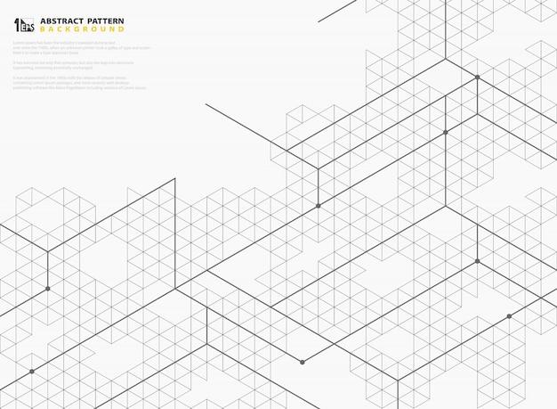 Abstrakte moderne quadratische linie hintergrund.