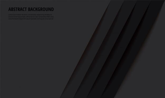 Abstrakte moderne schwarze linien hintergrundvektorillustration
