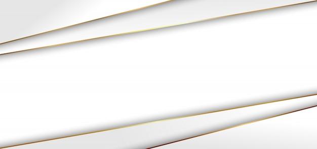 Abstrakte moderne weiße dreieckhintergrund goldene linie