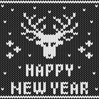 Abstrakte monochrome gestrickte nahtlose muster. strickmuster für neujahrskarten, weihnachtseinladungen, urlaubsverpackungspapier, winterurlaubsreisen und werbung für skigebiete usw.